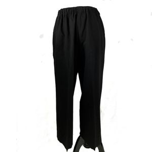 Wide leg pull on pant in black by 6397